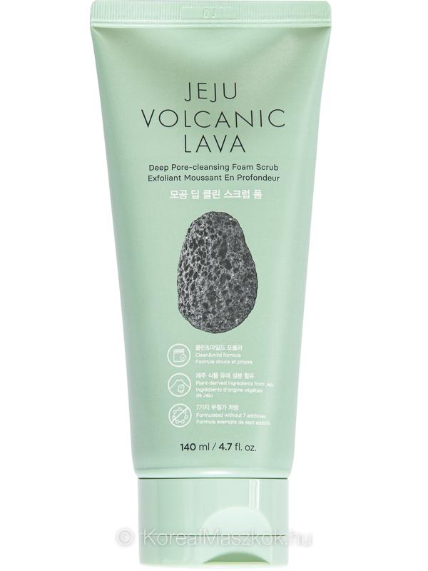 The Face Shop Jeju Volcanic Lava Deep Pore-Cleansing Foam Scrub pórustisztító hab