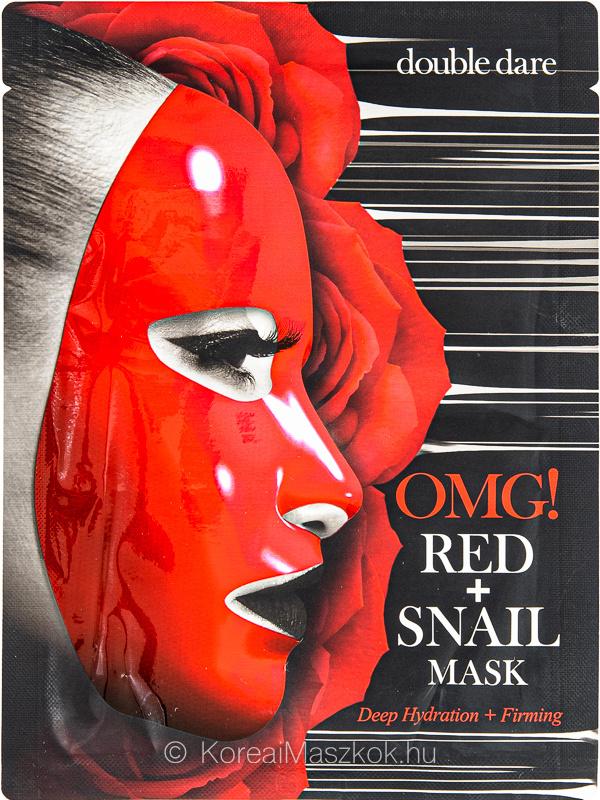 Double Dare OMG! Red+Snail Mask feszesítő fátyolmaszk