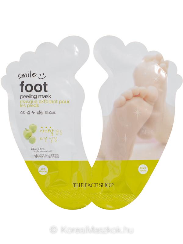 The Face Shop Smile Foot Peeling Mask bőrkeményedés elleni lábmaszk