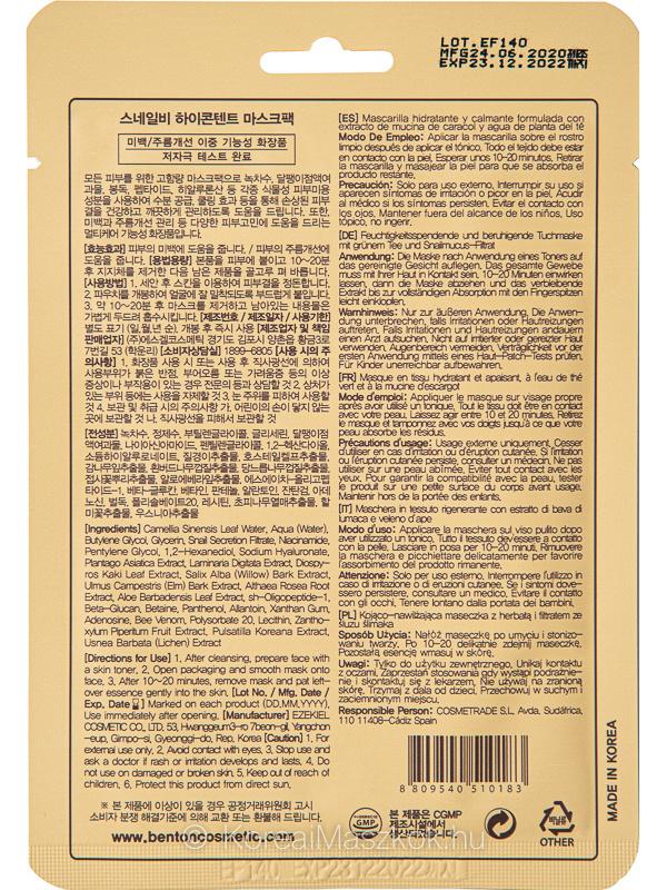Benton csiganyál méhméreg fátyolmaszk