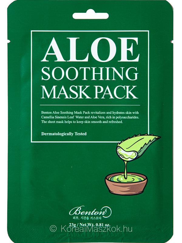Benton Aloe Soothing Mask bőrnyugtató és hidratáló fátyolmaszk