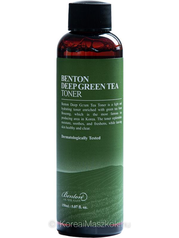 Benton Deep Green Tea Toner zöld teás hidratáló és bőrnyugtató toner