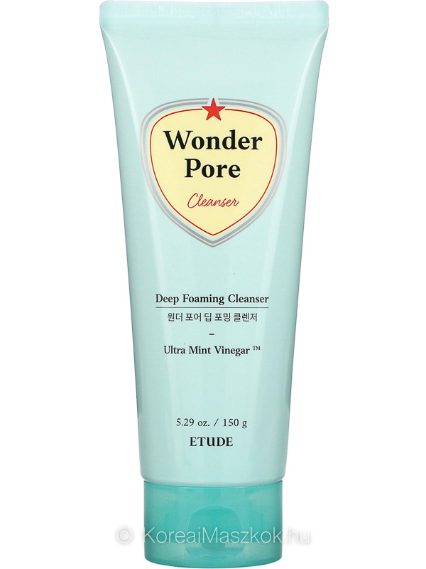 Etude House Wonder Pore Deep Foaming Cleanser pórustisztító habzó arclemosó