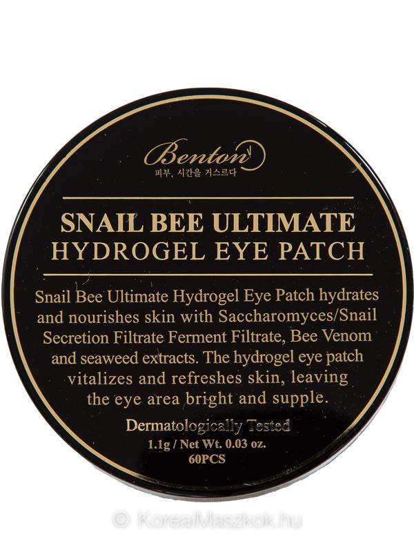 Benton Snail Bee Ultimate Hydrogel Eye Patch hidrogél szemmaszk