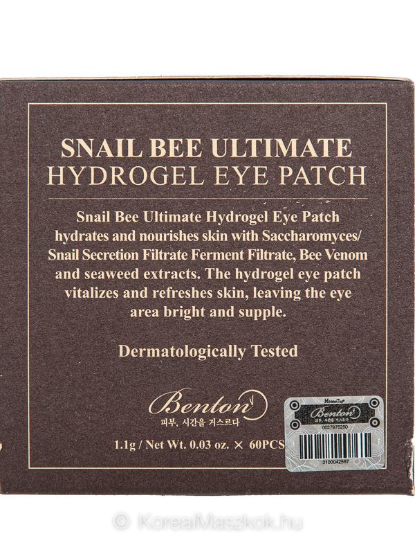 Benton csiganyál méhméreg szemtapasz
