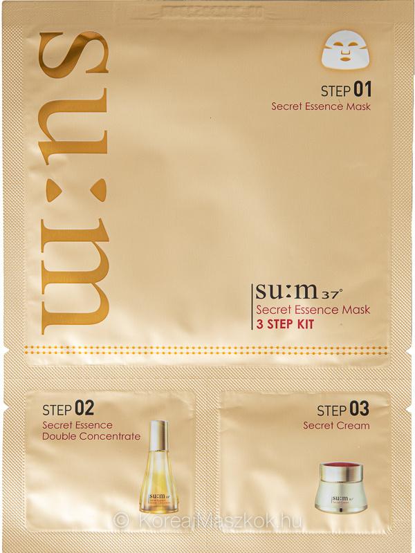 su:m37 Secret Essence Mask 3 Step Kit Set szépségápoló program