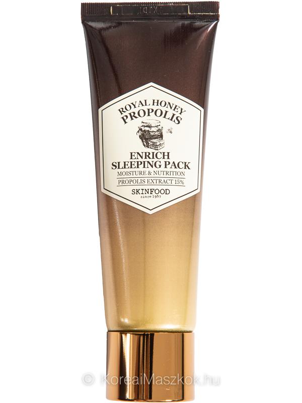 Skinfood Royal Honey Propolis Enrich Sleeping Pack hidratáló éjszakai arcmaszk