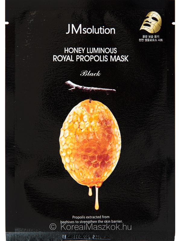 JMsolution Honey Luminous Royal Propolis Mask ragyogásfokozó fátyolmaszk