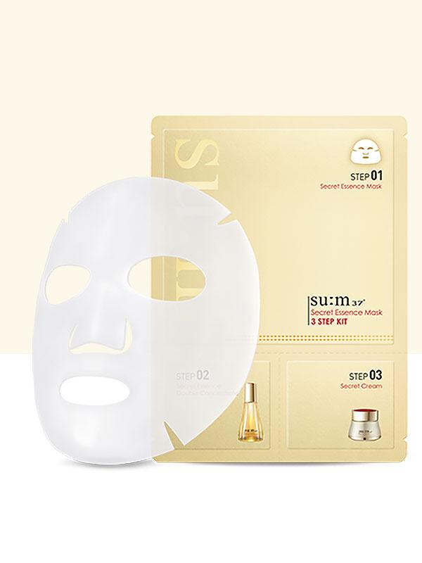 su:m37 Secret Essence Mask 3 Step Kit Set 3-lépéses öregedésgátló fátyolmaszk szett