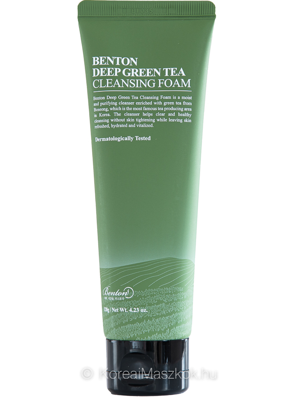 Benton Deep Green Tea Cleansing Foam zöldteás hidratáló arctisztító