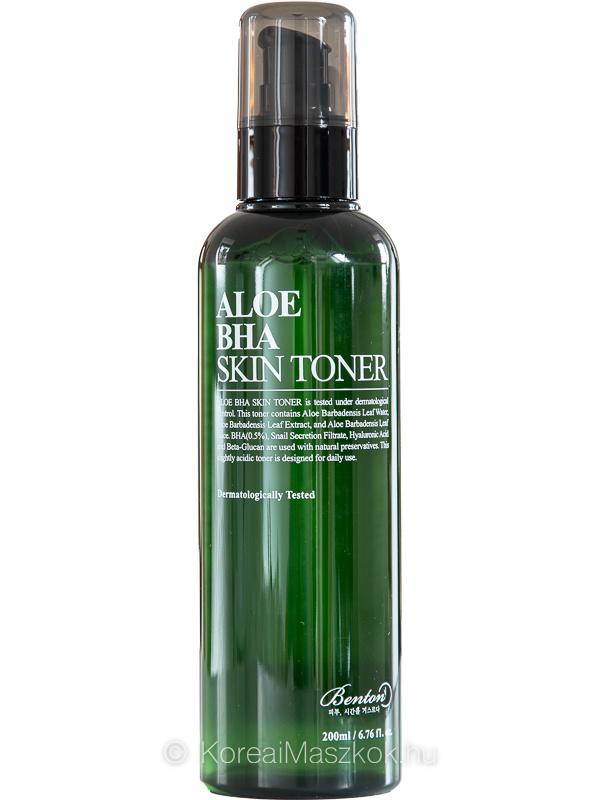 Benton Aloe BHA Skin Toner hámlasztó és hidratáló toner