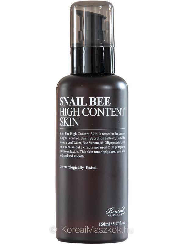 Benton Snail Bee High Content Skin bőrtápláló toner csigamucinnal