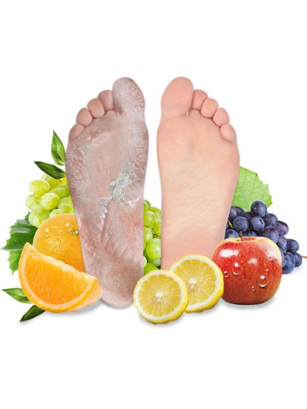 Hámlasztó lábmaszk gyümölcssavakkal