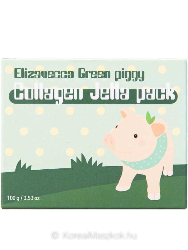 Elizavecca Green Piggy Collagen Jella Pack kollagén arcmaszk