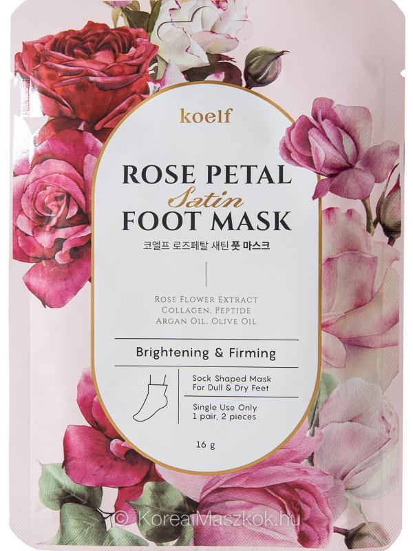 Koelf Rose Petal Satin Foot Mask rózsás lábmaszk