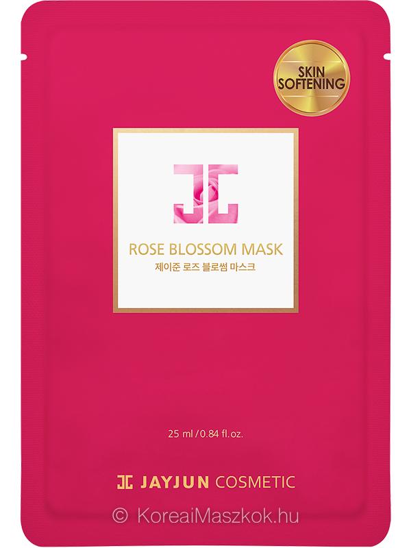 Jayjun Rose Blossom Mask bőrpuhító rózsás fátyolmaszk