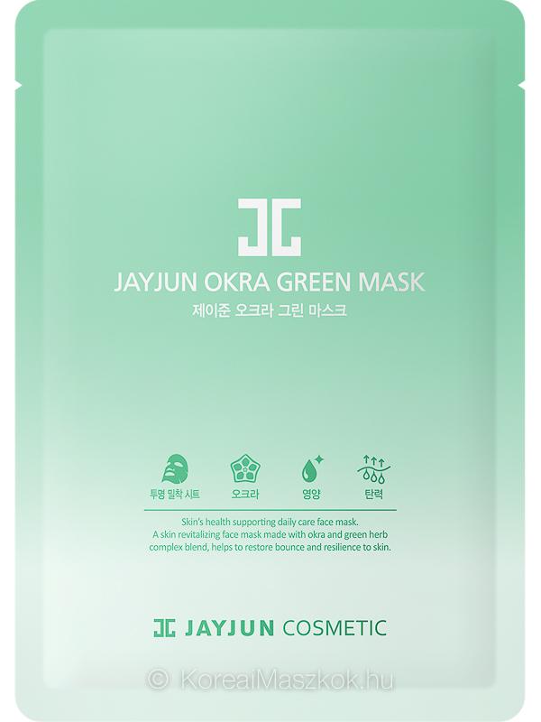 Jayjun Okra Green Mask - revitalizáló fátyolmaszk