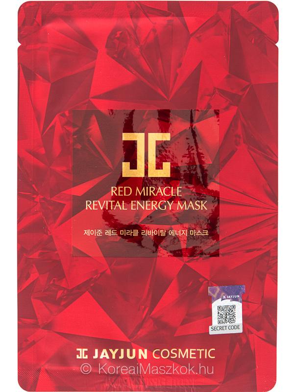 Jayjun Red Miracle Revital Energy Mask ránctalanító fátyolmaszk