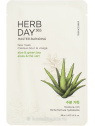 The Face Shop Herb Day 365  Master Blending Aloe & Green Tea hidratáló fátyolmaszk