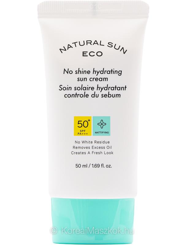 The Face Shop Natural Sun Eco No Shine Hydrating Sun Cream SPF50+ PA+++ fényvédő