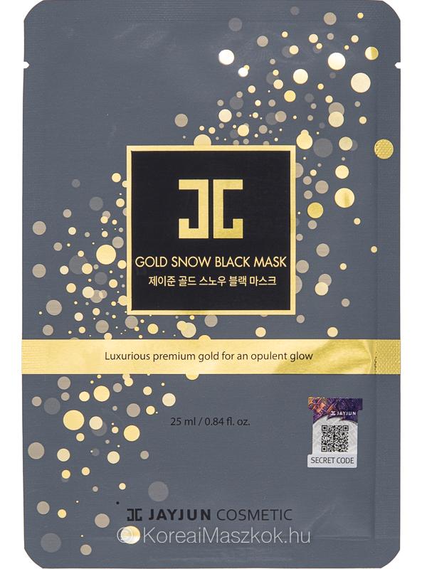 Jayjun Gold Snow Black Mask prémium fátyolmaszk arannyal