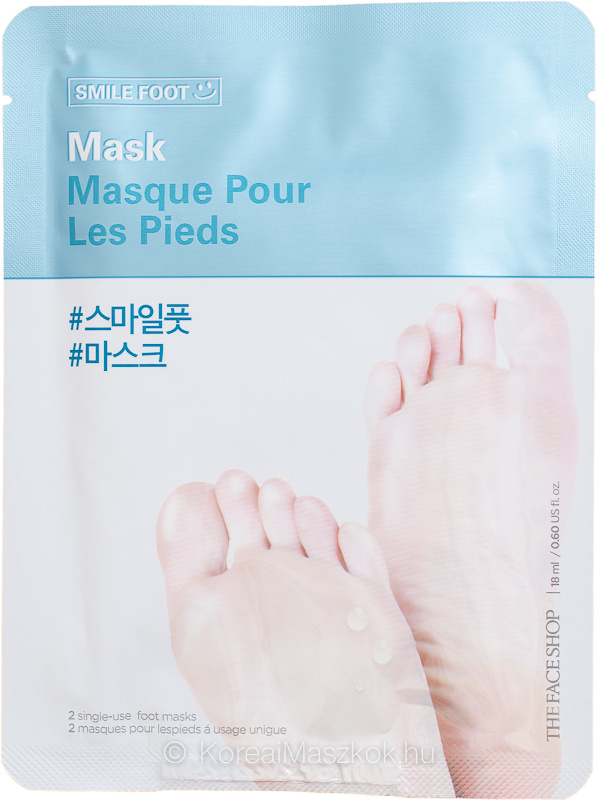 The Face Shop Smile Foot Mask - bőrpuhító lábmaszk
