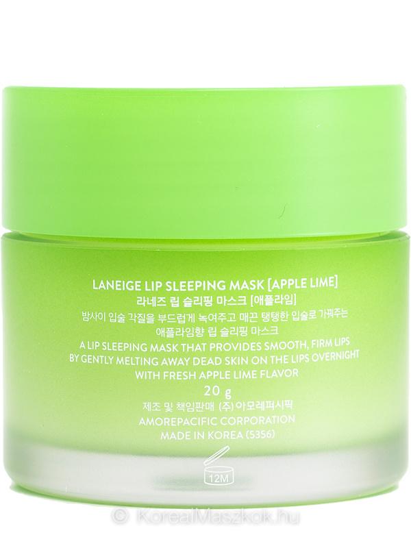 LANEIGE Lip Sleeping Mask Apple Lime - éjszakai ajakápoló maszk alma-lime termékadatlap