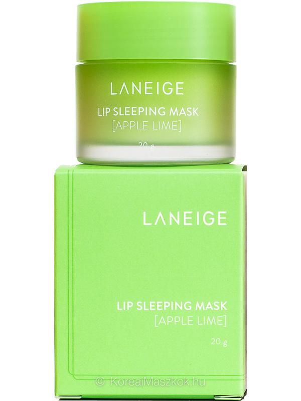 LANEIGE Lip Sleeping Mask Apple Lime termék és doboz