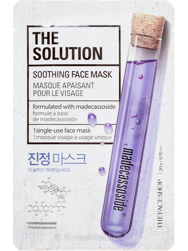 The Face Shop The Solution Soothing - bőrnyugtató Madecassoside arcmaszk