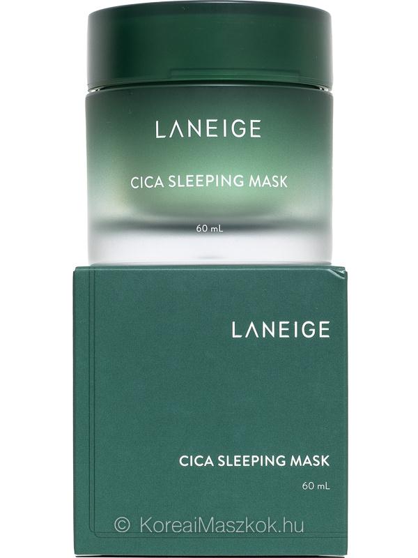 Laneige Cica Sleeping Mask éjszakai arcmaszk termék és doboz