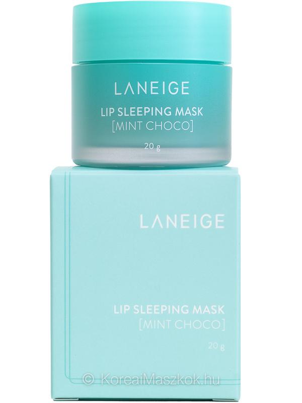 Lip Sleeping Mask Mint Choco - éjszakai ajakápoló maszk termék és doboz