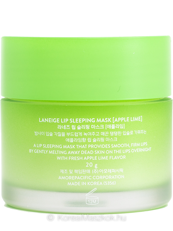 Laneige Lip Sleeping Mask Apple-Lime termék adatlap