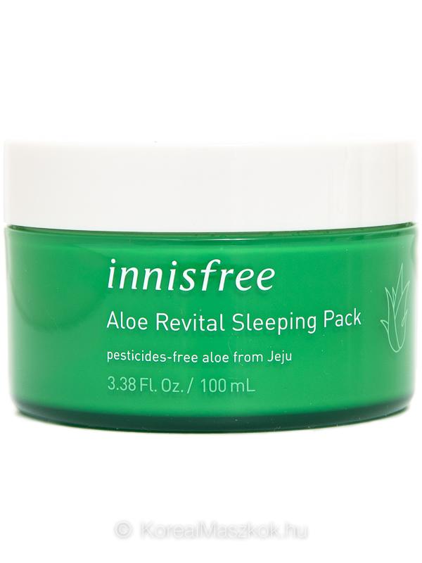 Innisfree Aloe Revital Sleeping Pack éjszakai revitalizáló arcmaszk