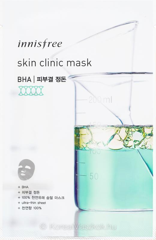 Innisfree Skin Clinic Mask BHA - hámlasztó BHA fátyolmaszk
