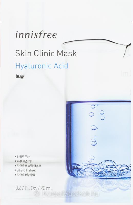 Innisfree Skin Clinic Mask Hyaluronic Acid - hidratáló fátyolmaszk hialuronsavval