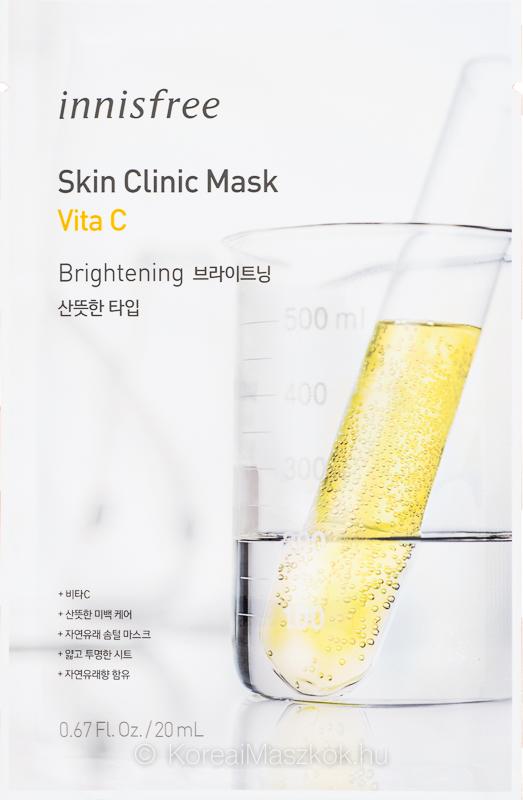 Innisfree Skin Clinic Mask Vita C - ragyogást adó fátyolmaszk C-vitaminnal