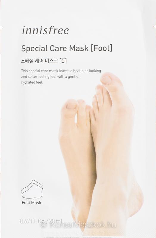 Innisfree Special Care Mask Foot - bőrpuhító lábmaszk