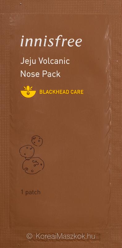 Innisfree Jeju Volcanic Nose Pack Blackhead Care mitesszereltávolító tapasz
