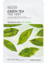 The Face Shop Real Nature Green Tea hidratáló fátyolmaszk zöld tea