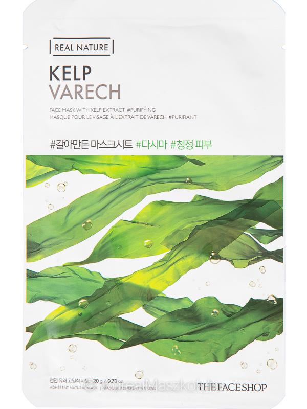 The Face Shop Real Nature Kelp - tisztító fátyolmaszk tengeri hínár kivonattal