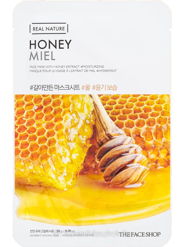 The Face Shop Real Nature Honey - hidratáló fátyolmaszk mézzel