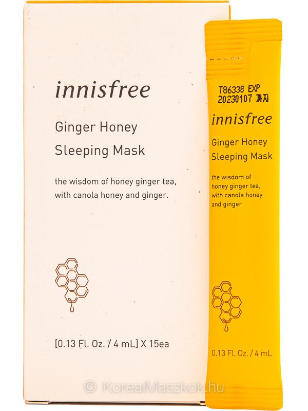 Innisfree Ginger Honey Sleeping Mask gyömbéres&mézes éjszakai maszk