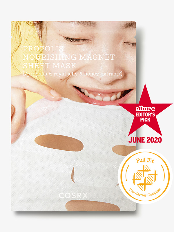 COSRX Propolis Nourishing Magnet Sheet Mask bőrtápláló anti-aging fátyolmaszk