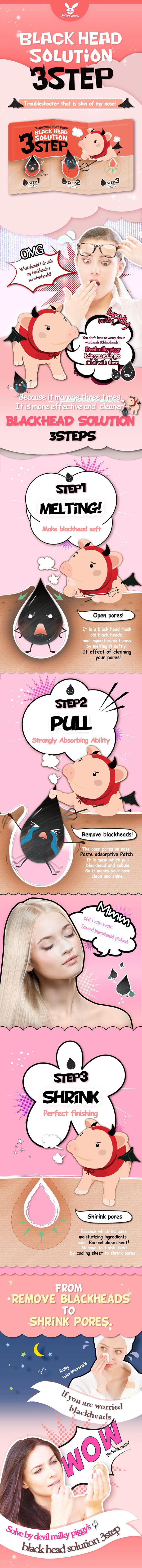 Elizavecca Milky Piggy Black Head Solution 3 Step Kit