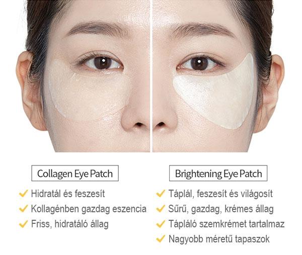 Collagen Eye patch vs Brightening Eye Patch