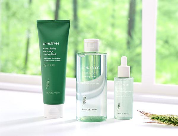 Innisfree zöld árpa kozmetikumok