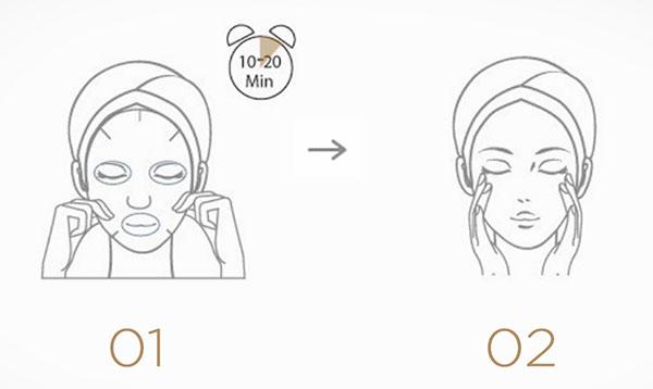 Jayjun kollagénes arcmaszk szett használata