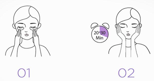 Jayjun levendulás szemmaszk használata