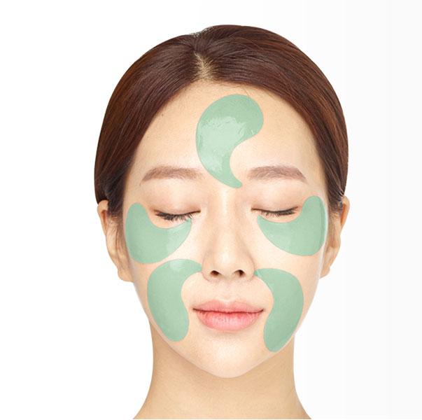 Jayjun Okra Green Eye Gel Patch hidrogél szemmaszkok okragyümölccsel