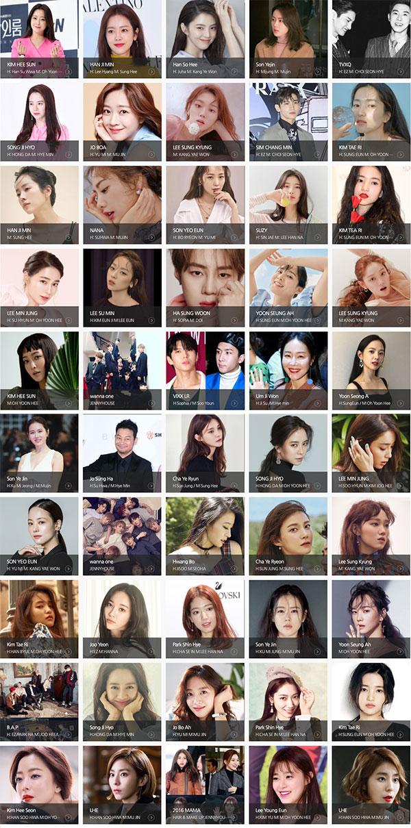 Jenny House Korea celeb ügyfelek